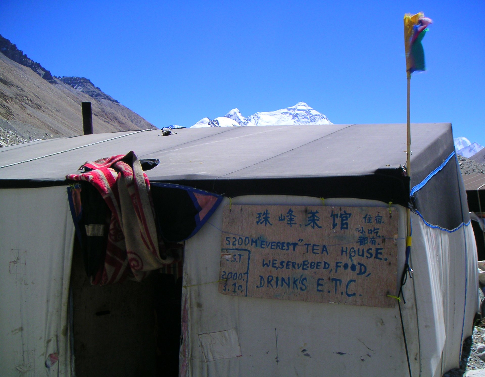 Tea house at North Mount Everest Base Camp 2020