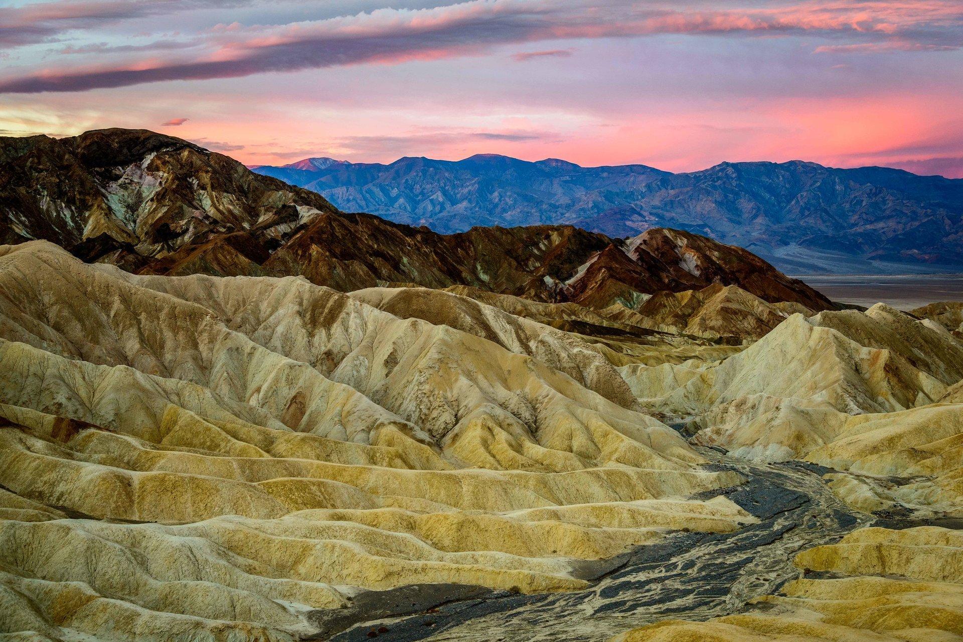Zabriskie Point sunrise in Death Valley 2020