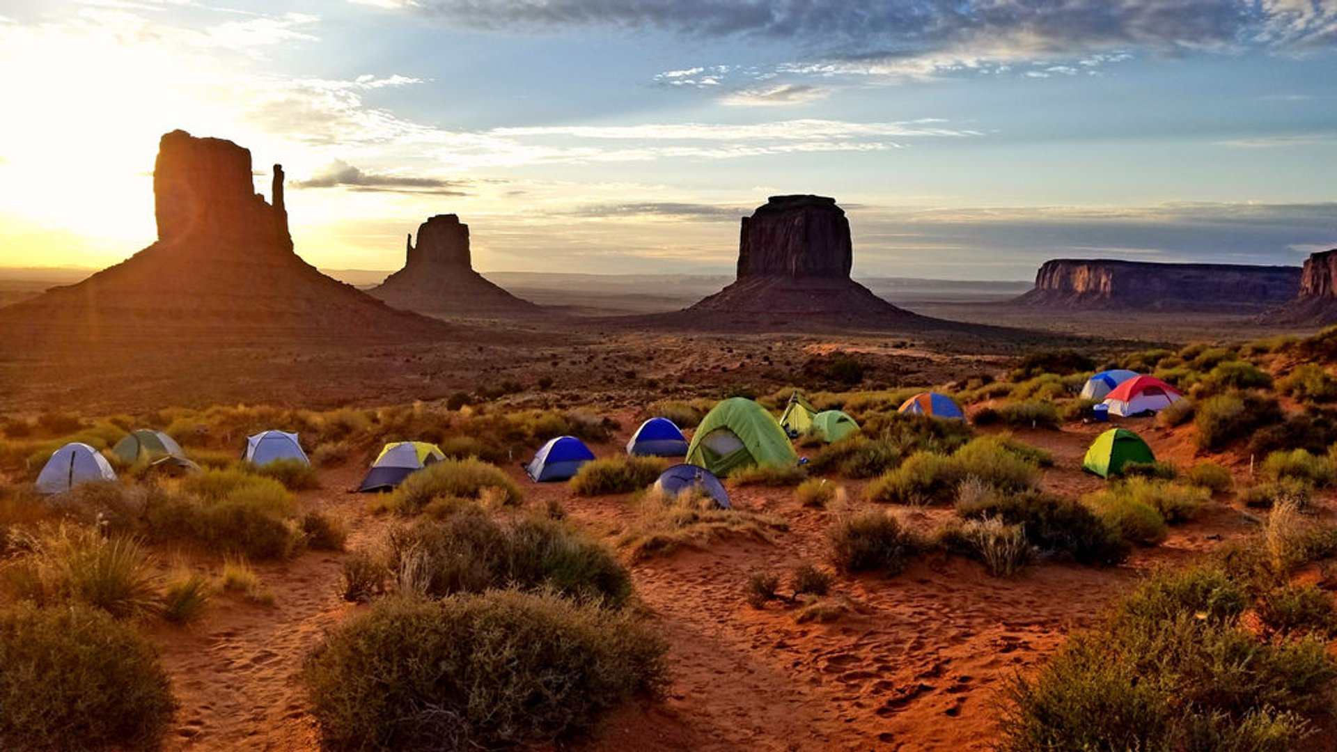 Campground in Monument Valley