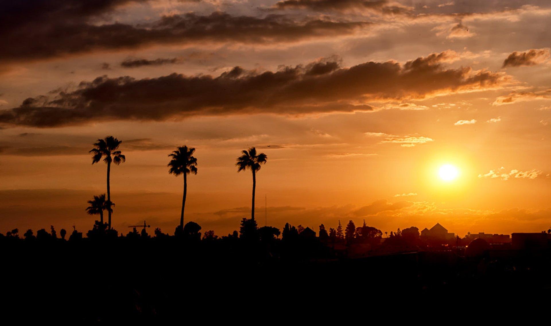 Marrakech sunset 2020