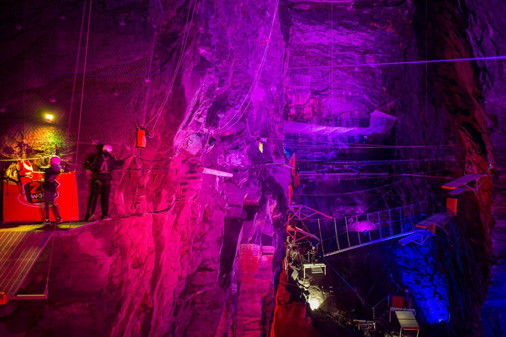 Bounce Below in Llechwedd Caverns in Wales - Best Time