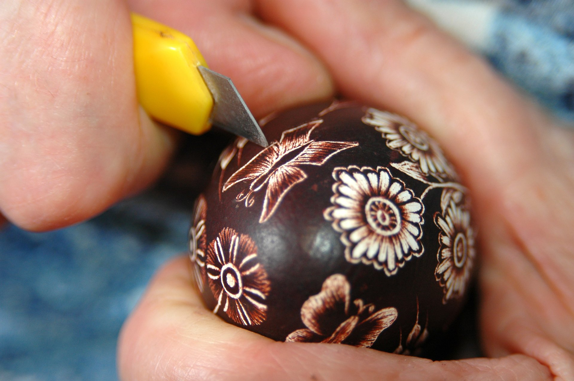 Traditional Easter eggs from Bela krajina 2020