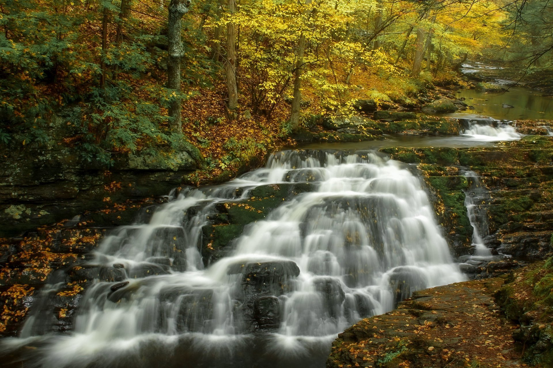 Pennell Falls in the Pocono Mountains, Pennsylvania 2020
