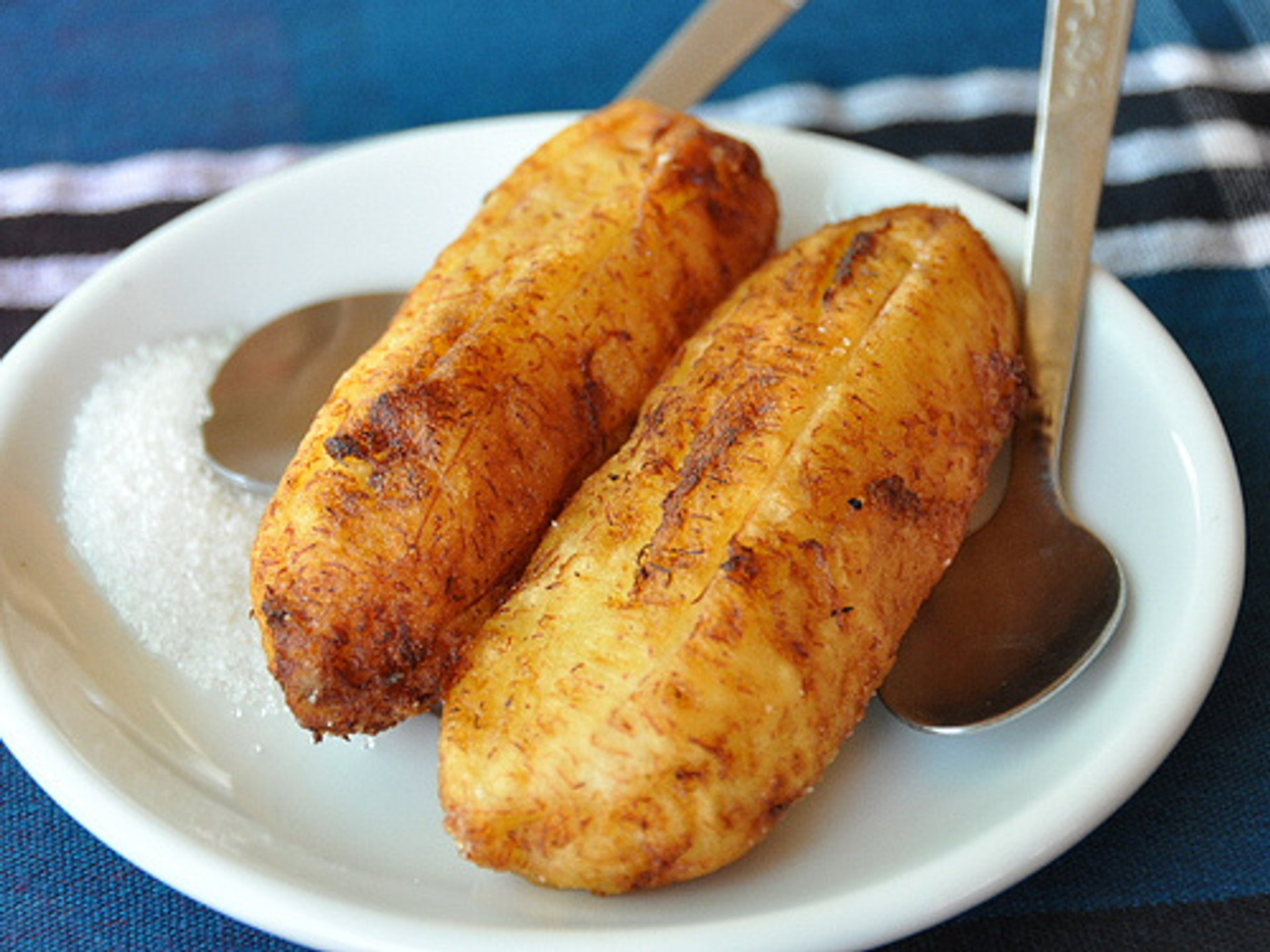 Fried bananas in Bagan 2020