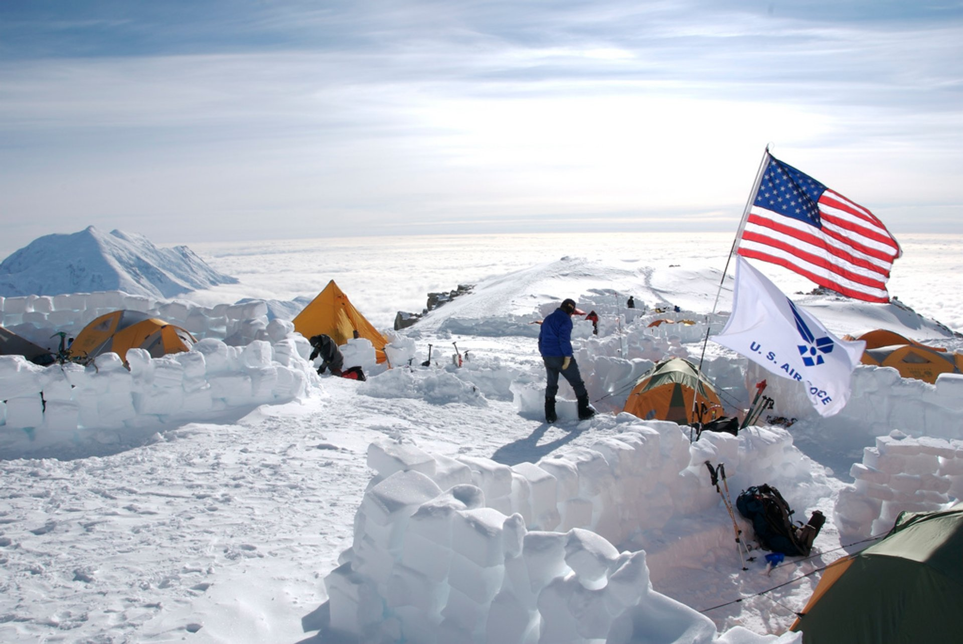 Mt. McKinley Base Camp Flags 2019