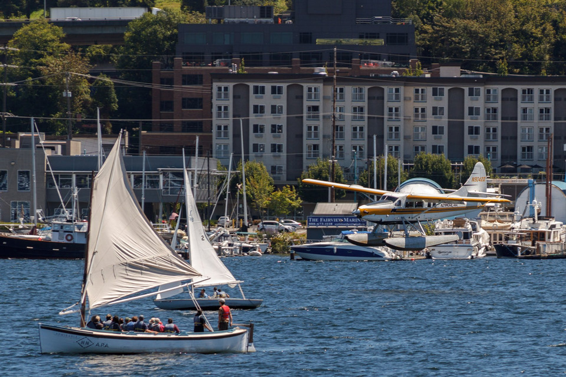 It was fascinating watching seaplanes takeoff and land on Lake Union, WA, threading their way through dozens of sail boats without colliding 2019