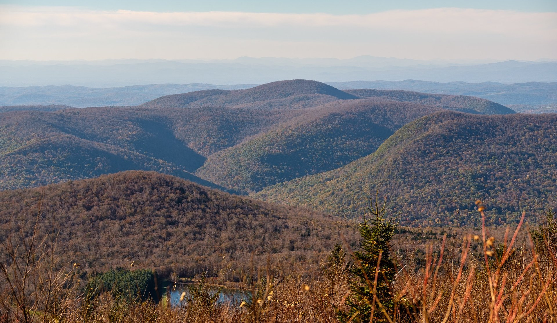 The view from the top of Equinox Mountain near Manchester, Vermont 2020
