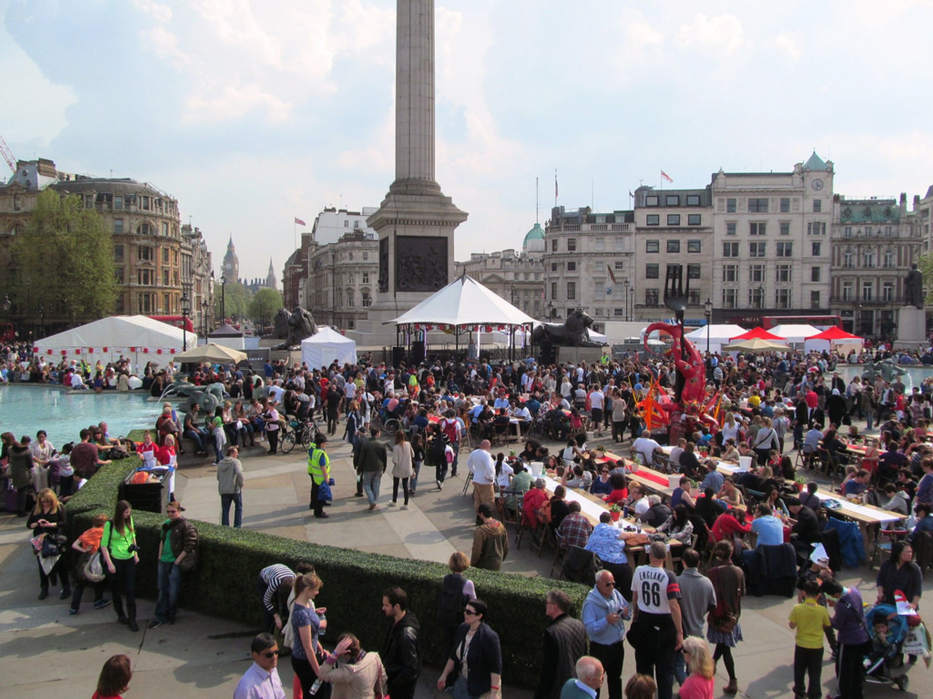 Best time for Feast of St George in Trafalgar Square in London 2020