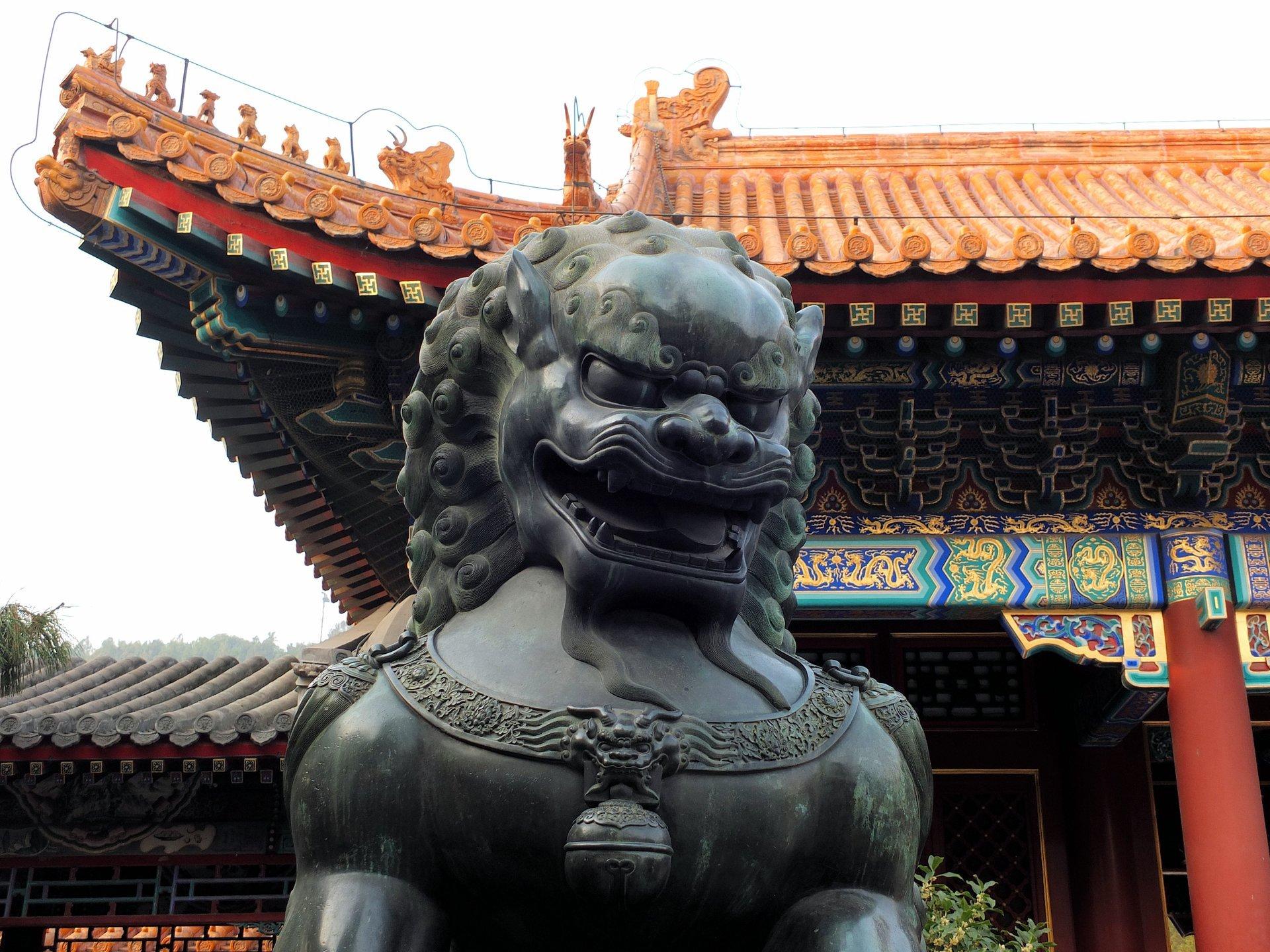 Qilin statue 2019
