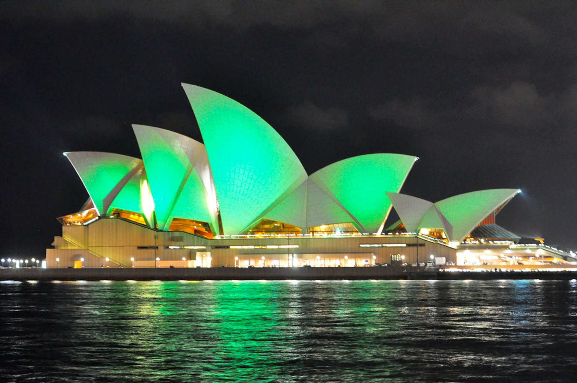 Sydney Opera House on St. Patrick's Day
