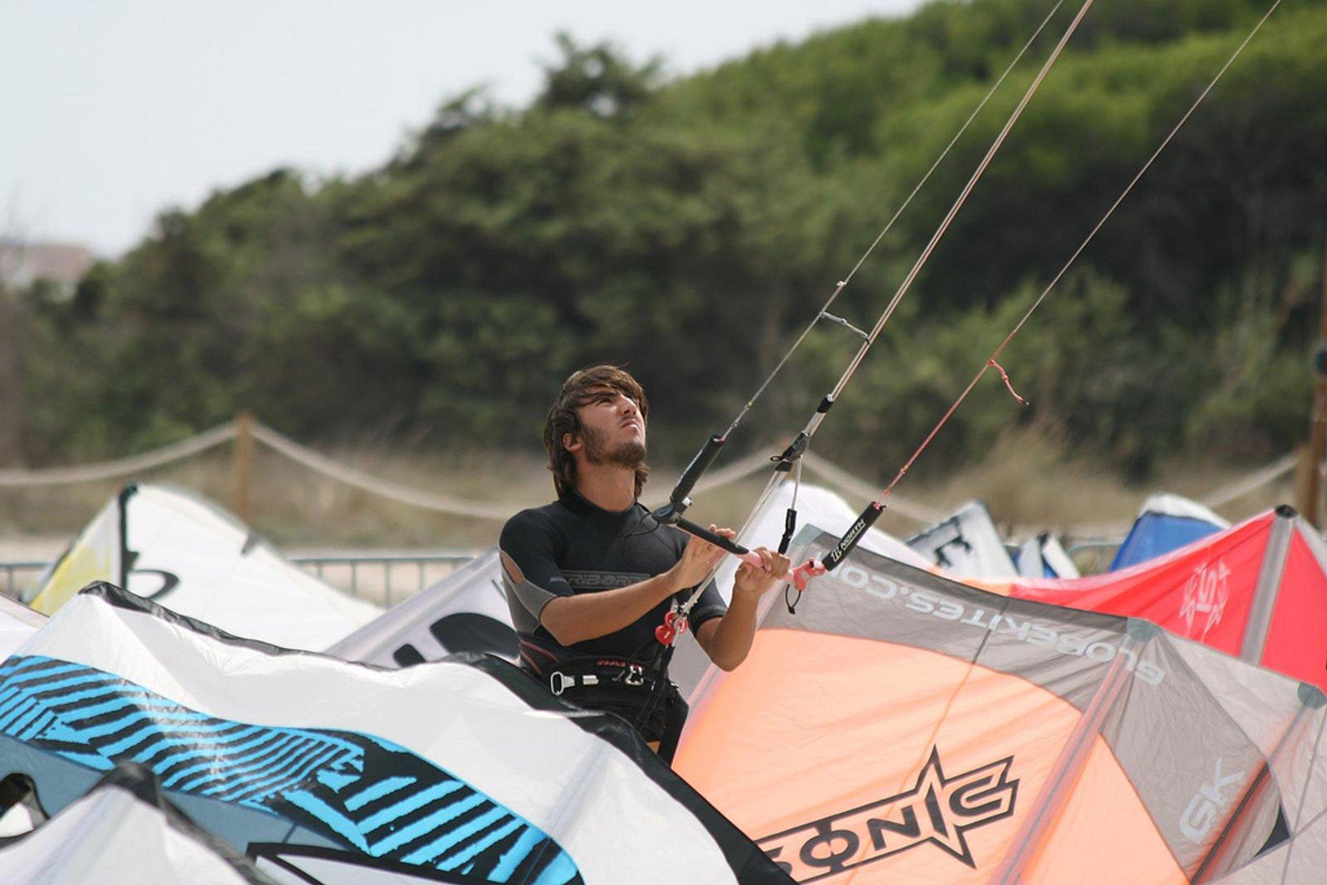 Kite surfing contest in Platja de Muro, Alcudia 2020