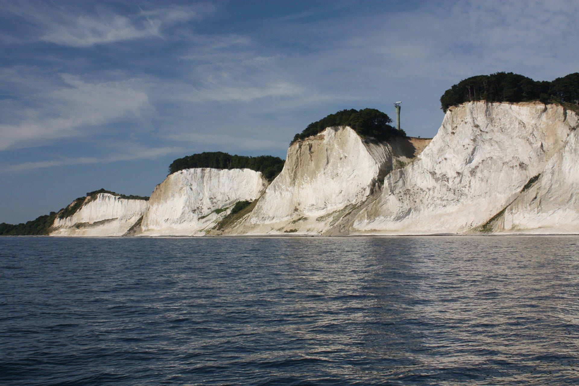 Best time to see White Cliffs of Møns Klint in Denmark 2020