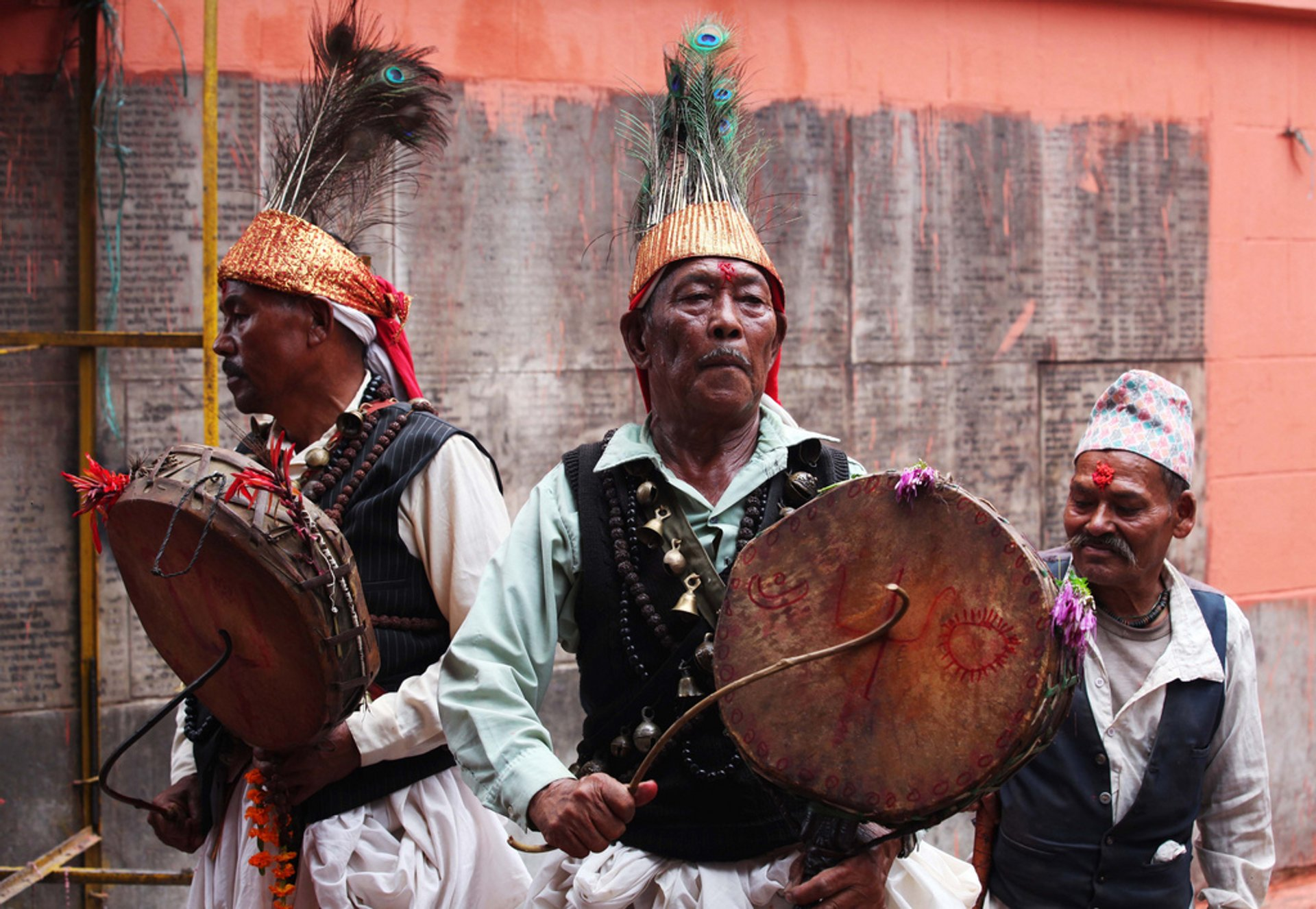 Witch Doctors performing for Janai Purnima celebrations in Patan 2020
