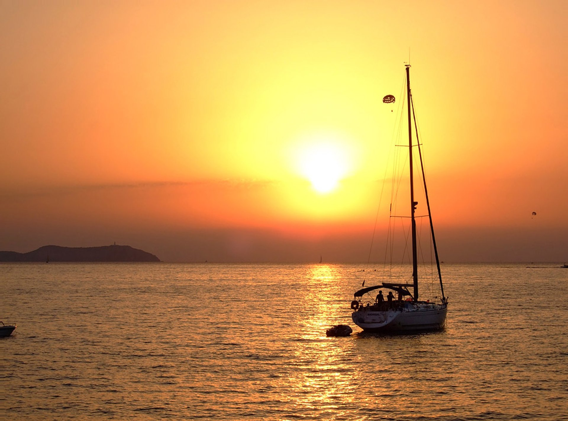 Sunset from Cafe del Mar, Sant Antoni de Portmany, Illes Balears, Spain 2020