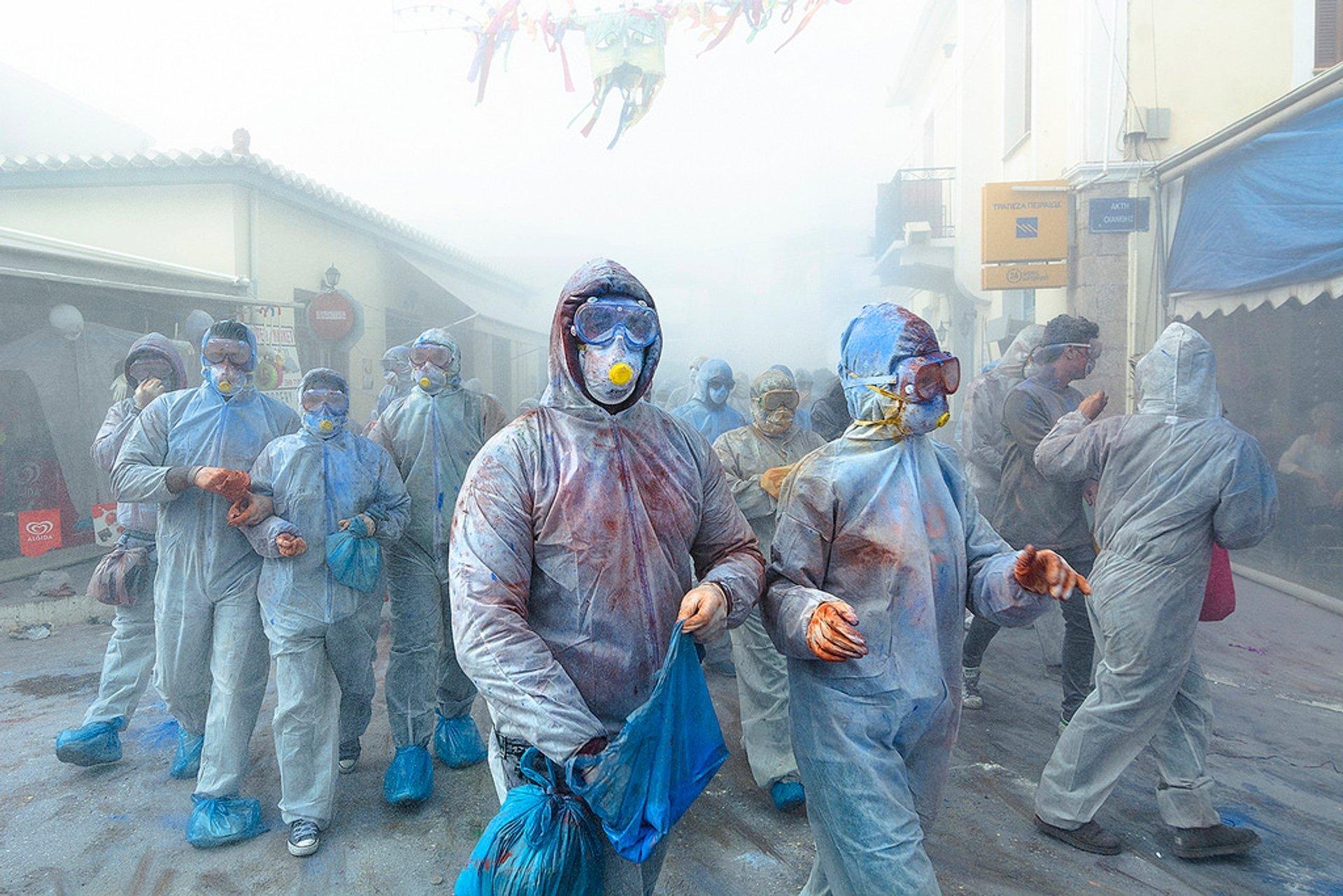 Galaxidi Flour War Carnival in Greece - Best Time