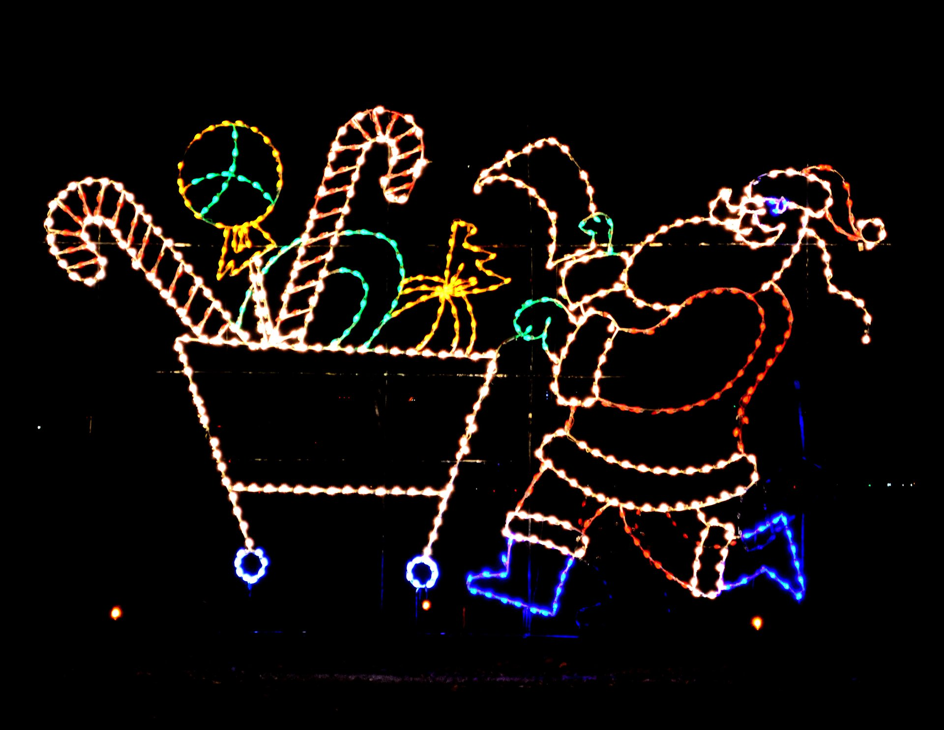 Lights on the Bay at Sandy Point State Park 2020