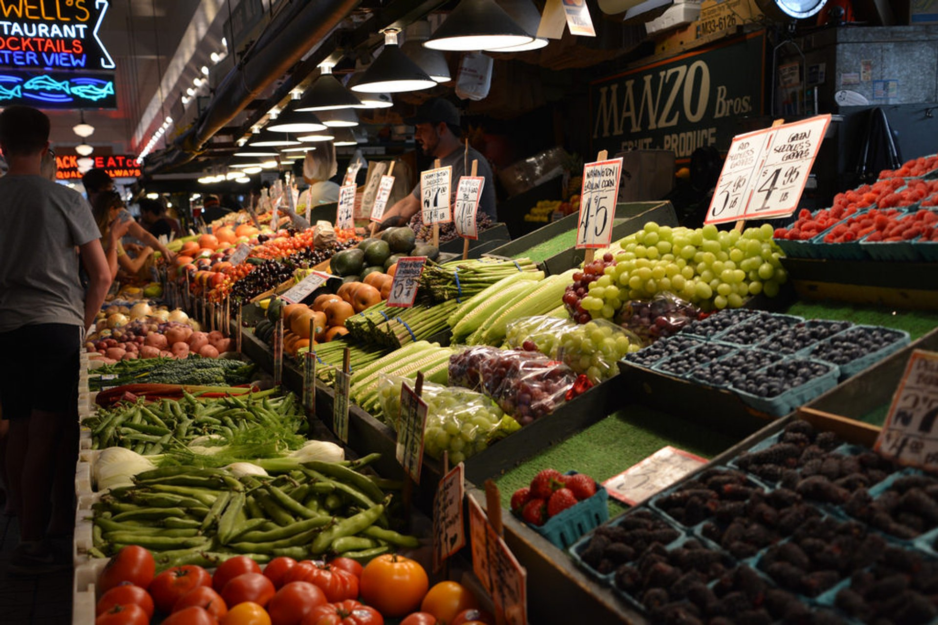 Fresh fruits and veggies of the Pike Place Market 2020