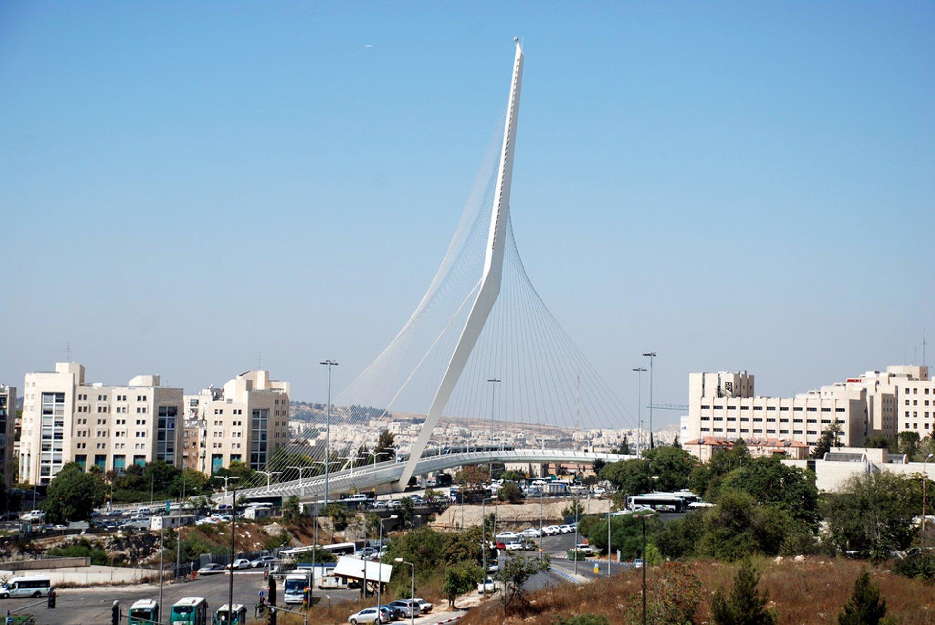 Bridge of Strings (Jerusalem Chords Bridge) in Jerusalem 2019 - Best Time
