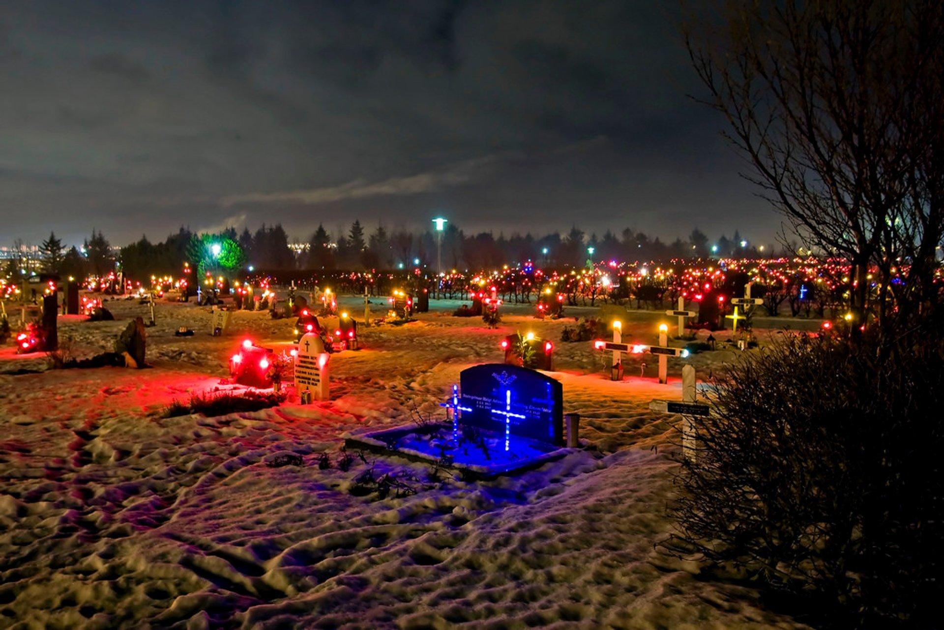 Graveyard in Hafnarjörður Iceland 2019