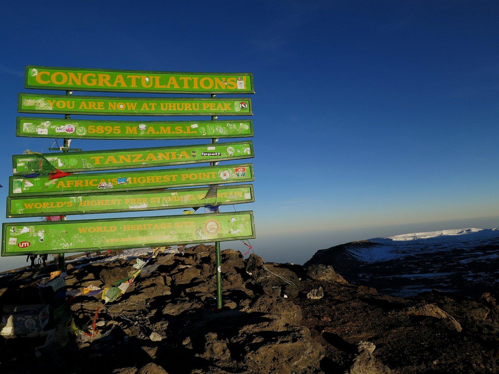 Best time to see Climbing Kilimanjaro in Tanzania 2019