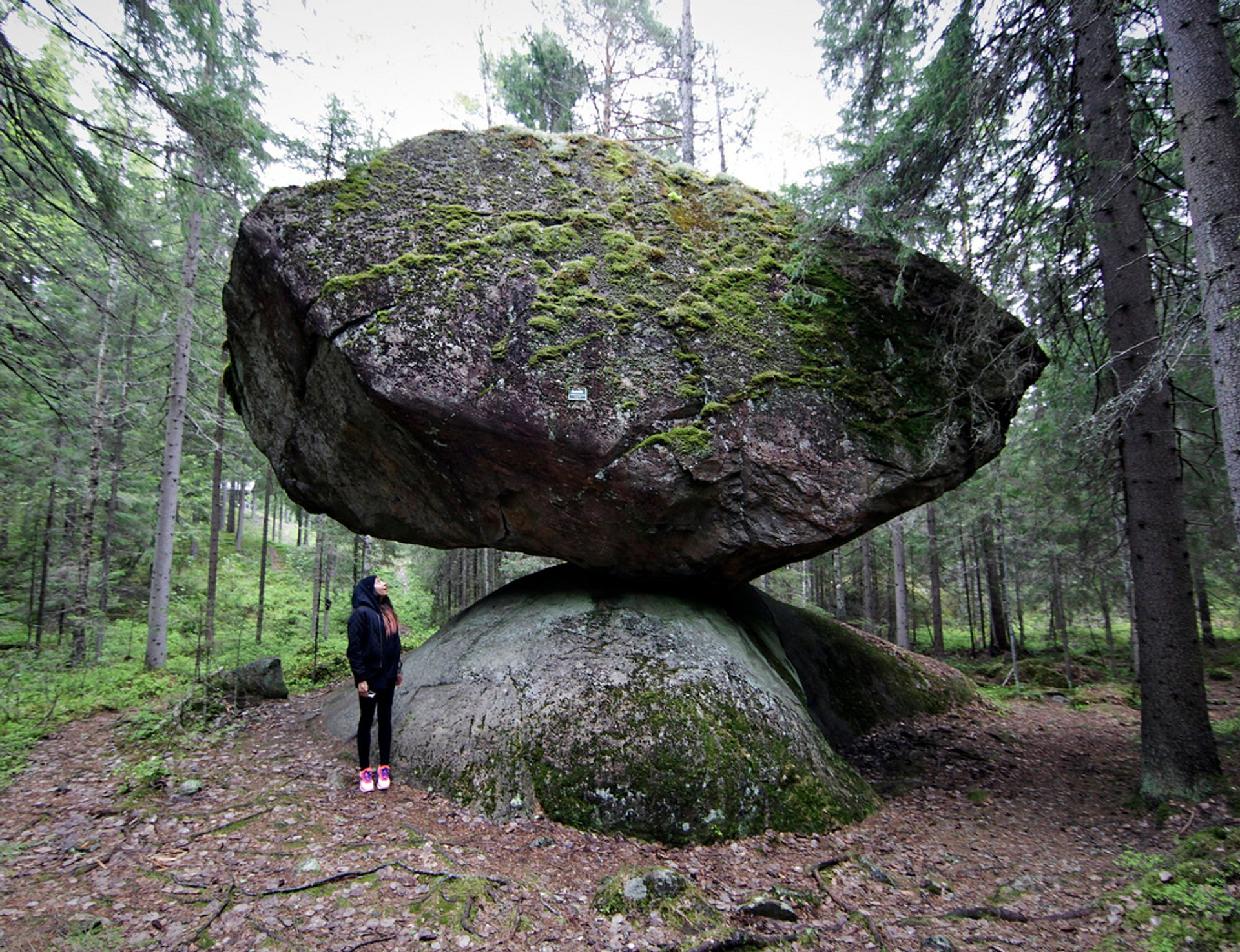 Kummakivi Balancing Rock in Finland - Best Season 2020