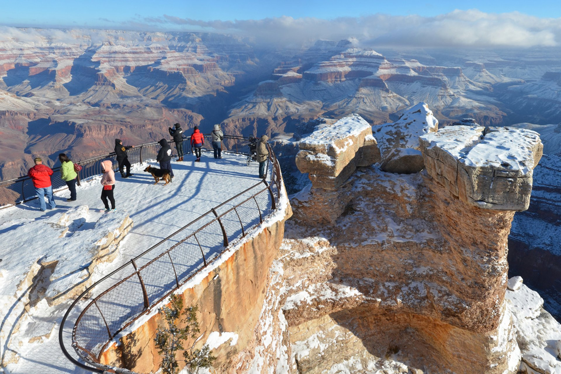 Snow-Powdered Landscape in Grand Canyon - Best Season