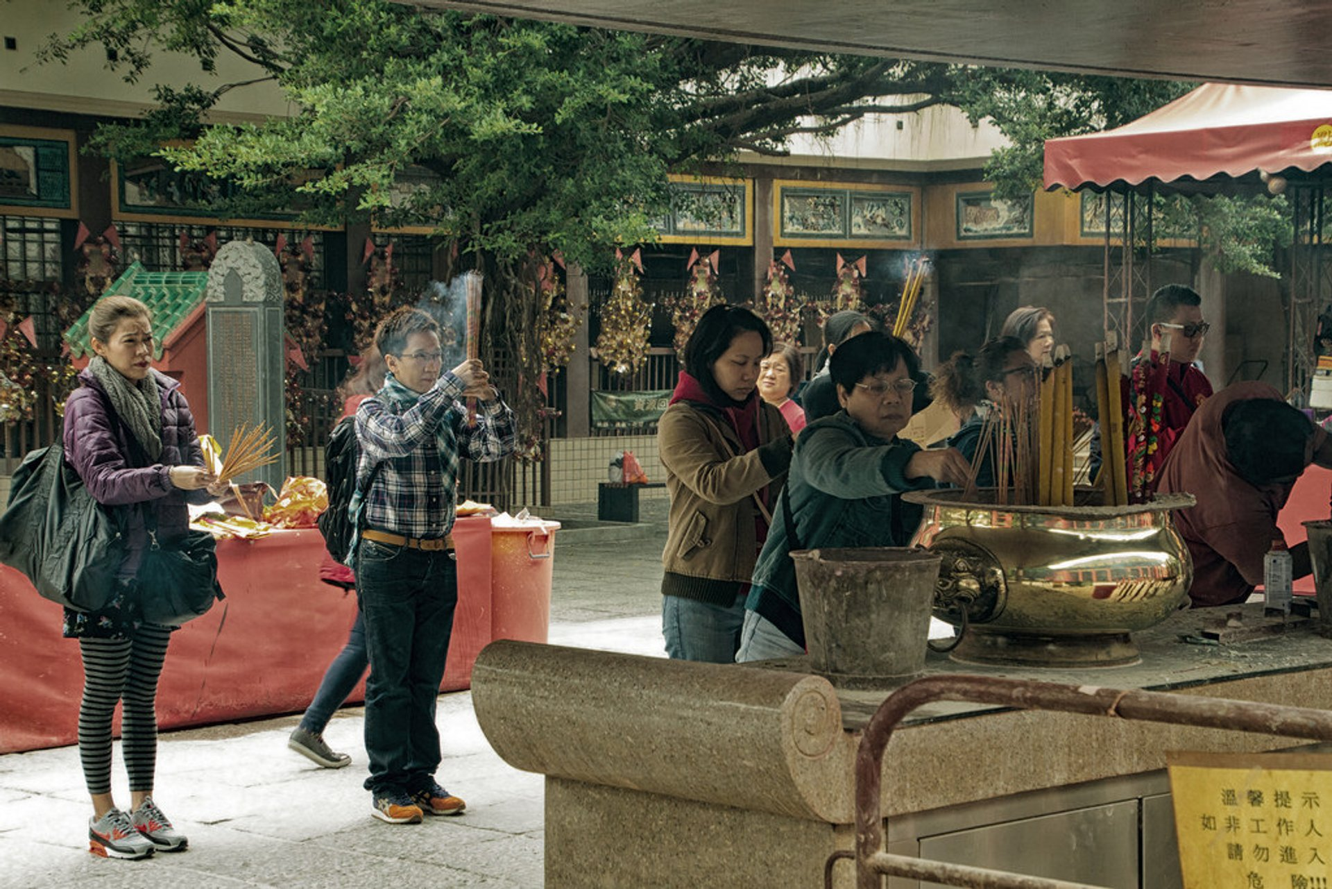 Worshippers at Che Kung Temple 2020