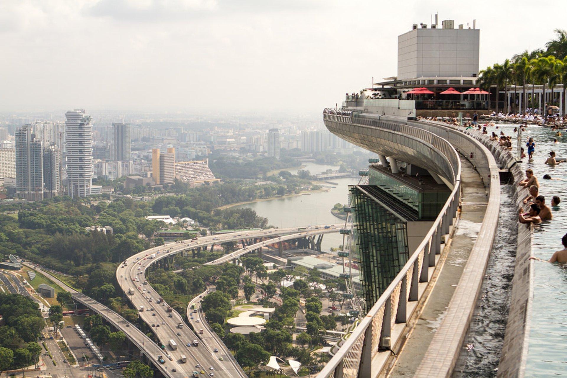 MBS Sky Park overlooking the Benjamin Sheares Bridge
