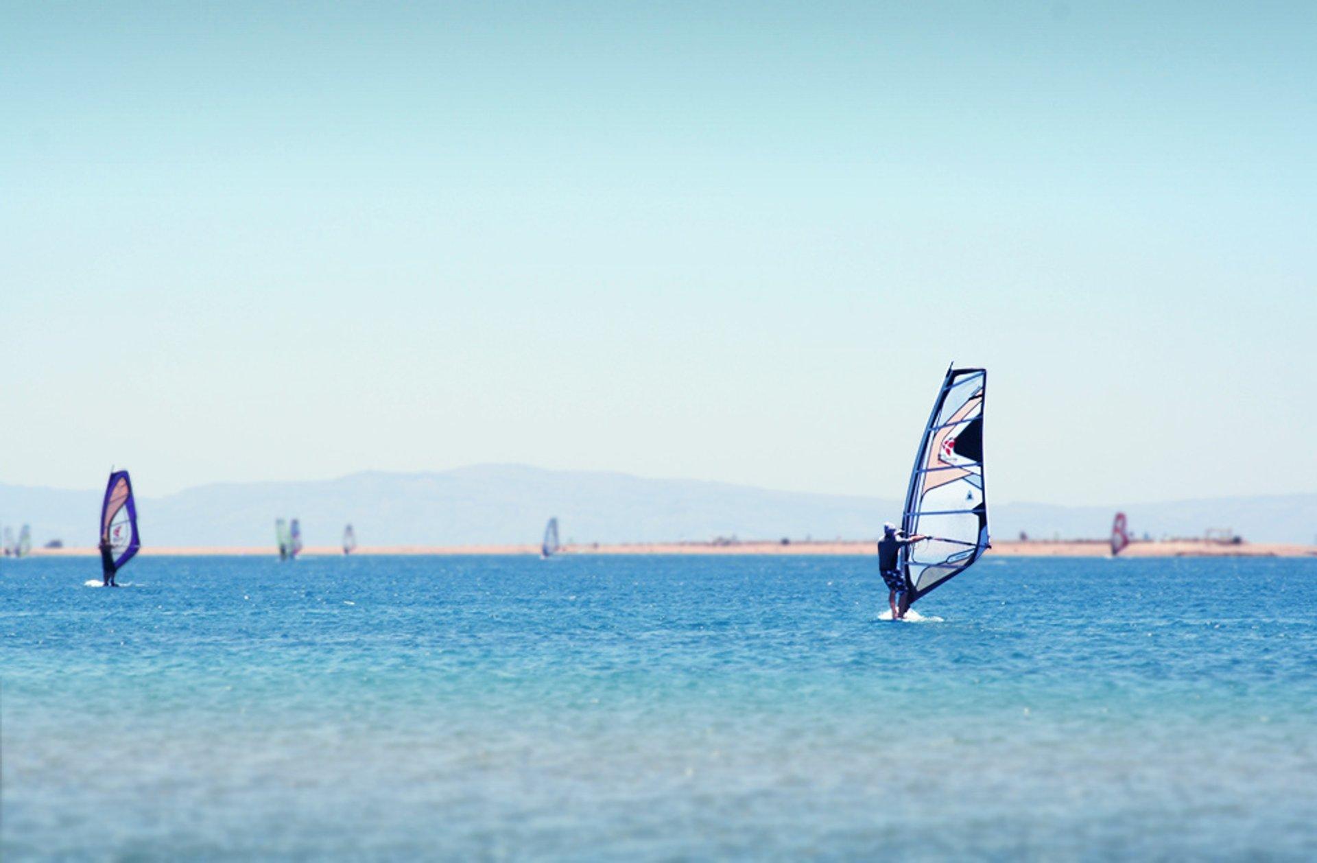 Windsurfing in Dahab in Egypt - Best Season 2020