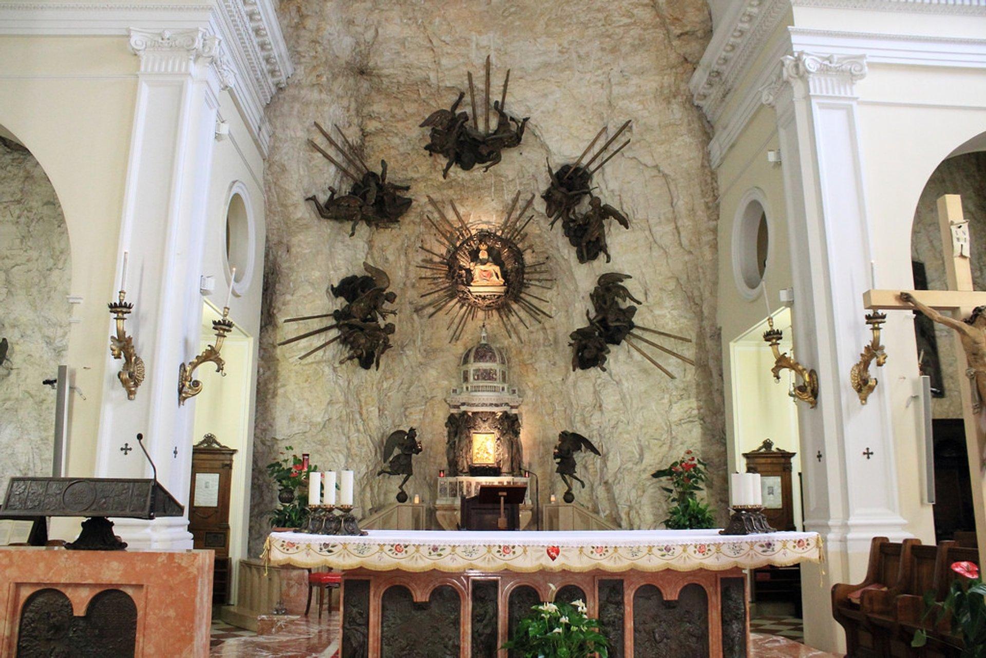 Interior of Madonna della Corona Sanctuary 2020