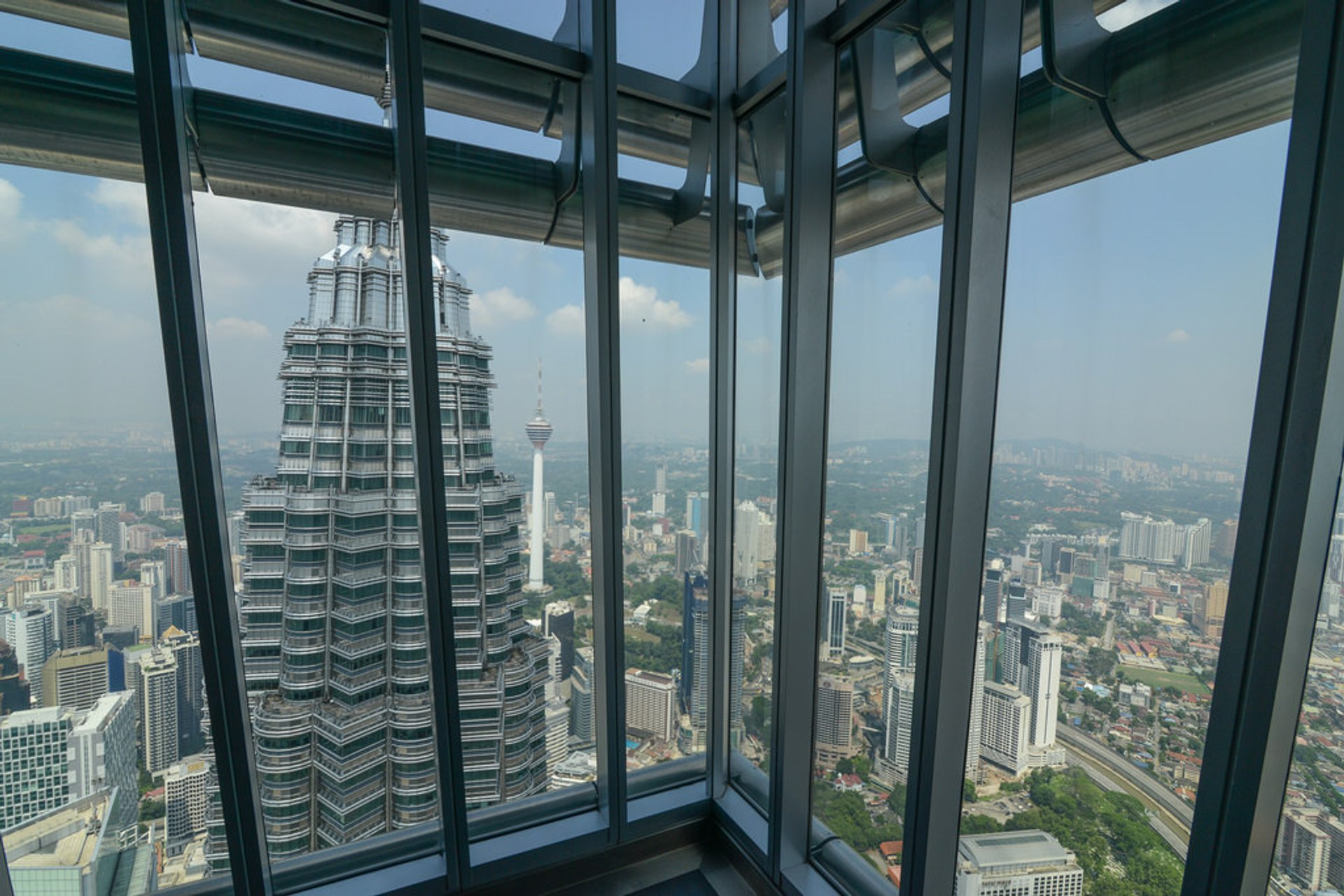 View from one of the Petronas Tower's observation deck 2020