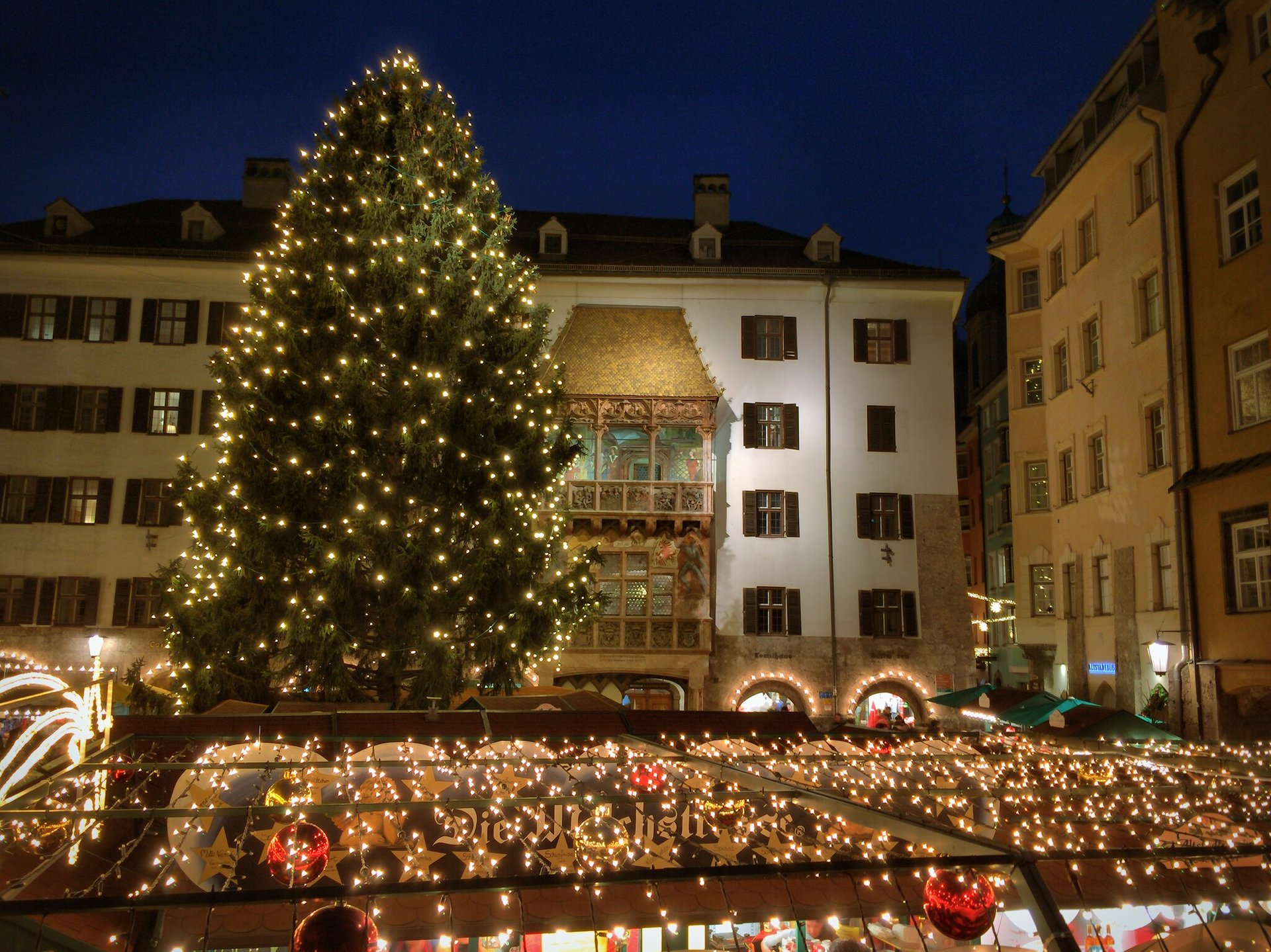 Old Town Christmas Market by the Golden Roof, Innsbruck 2020