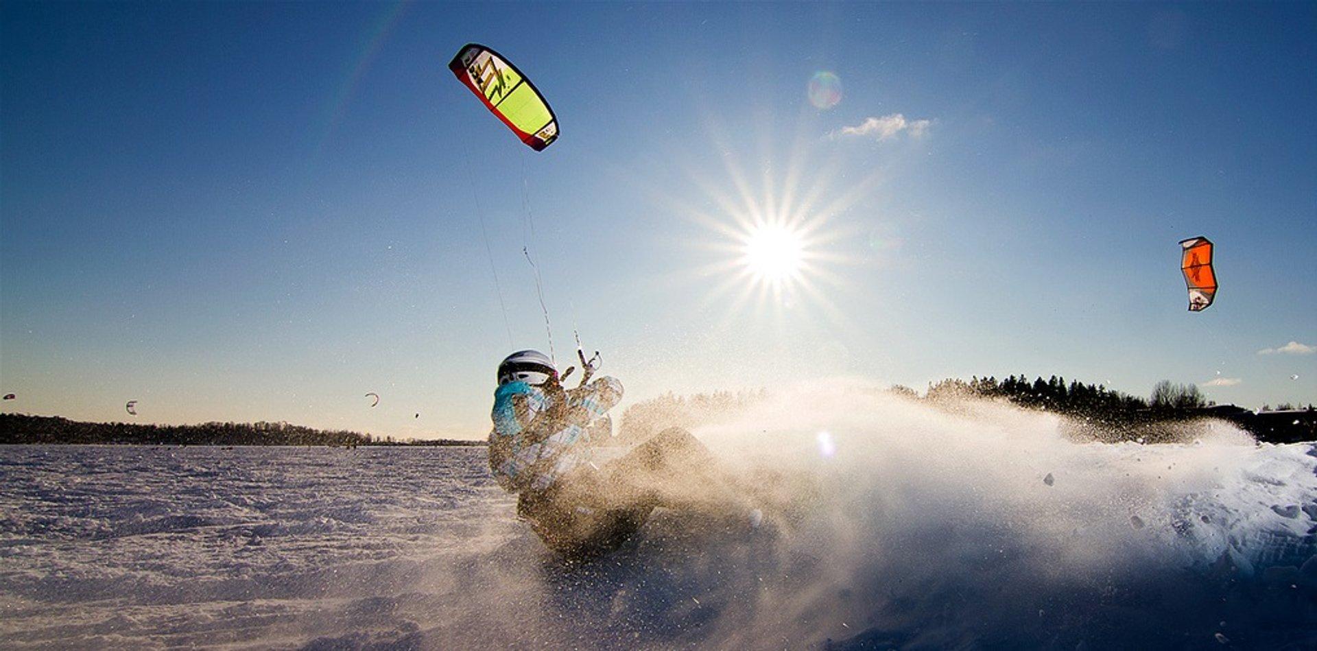 Snowkiting (Kiteskiing) in Finland 2019 - Best Time
