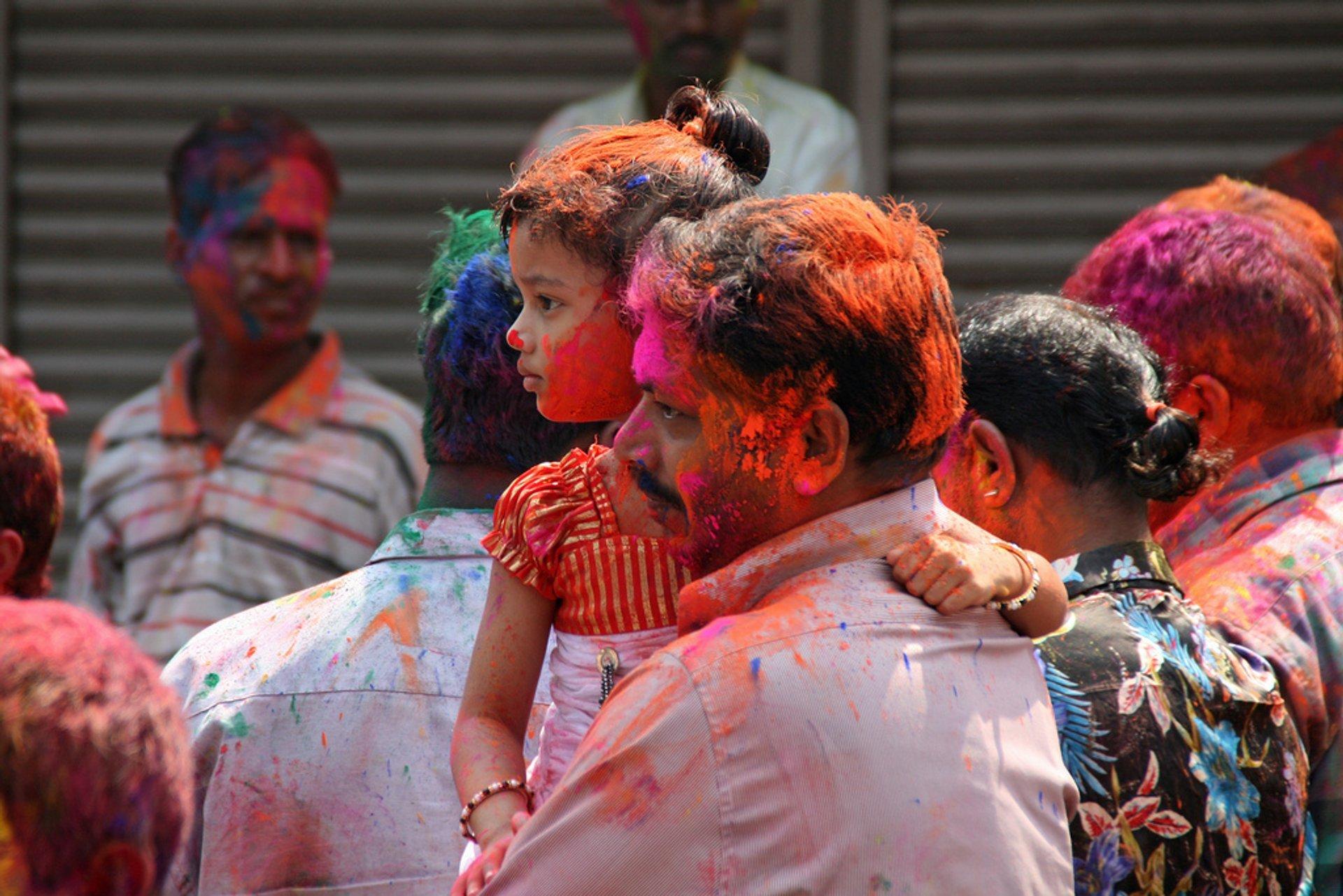 Holi Dad & Daughter, Nehrunagar, Margao, Goa 2020