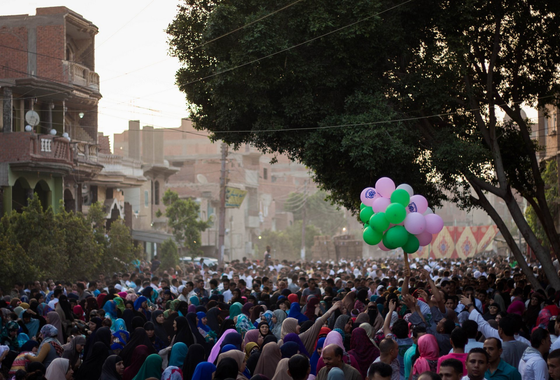 Egyptian Muslims attend Eid Al-Fitr prayers in the early morning to mark the end of the holy fasting month of Ramdan 2020