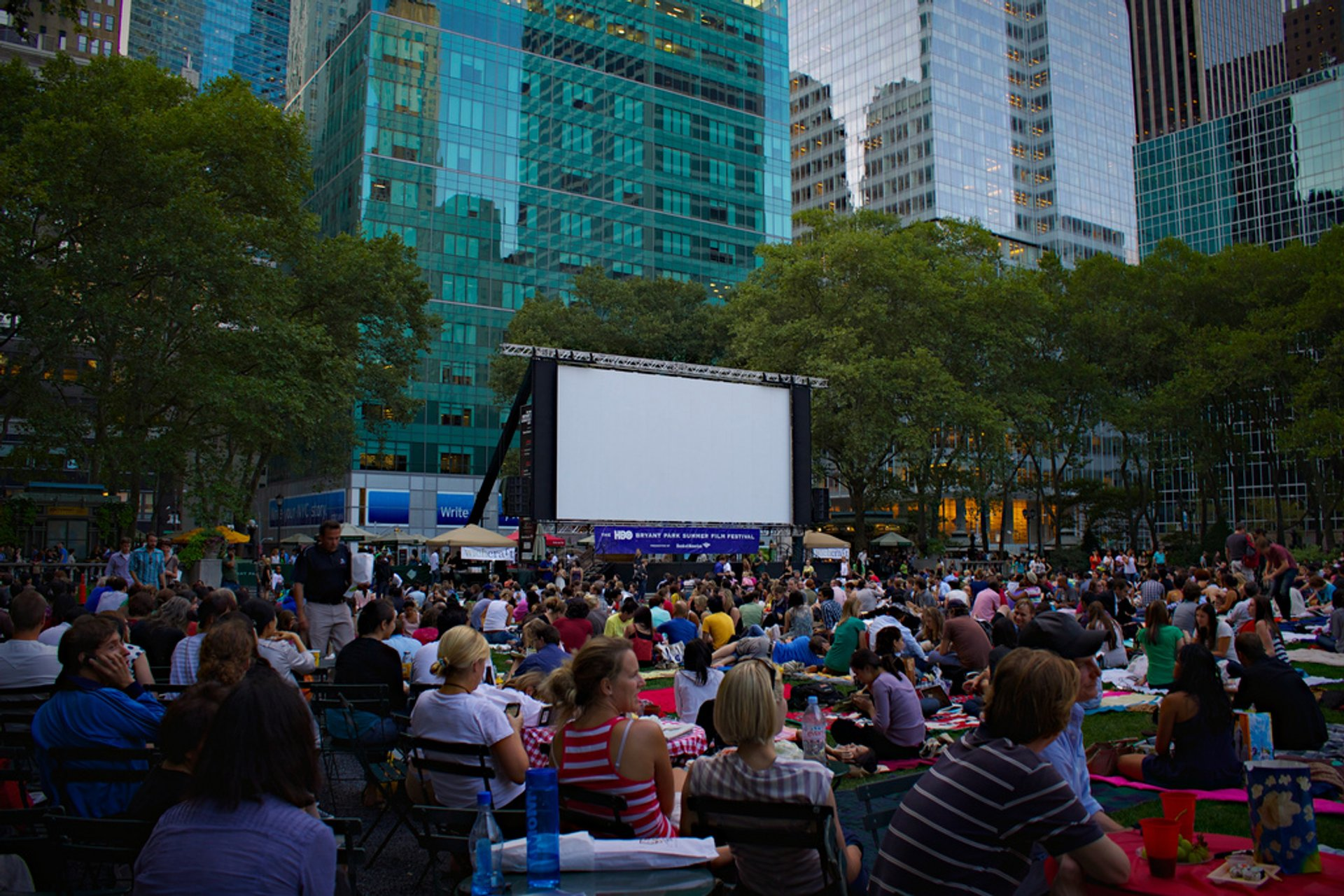 Bryant Park, New York. HBO Summer Film Festival. 2020