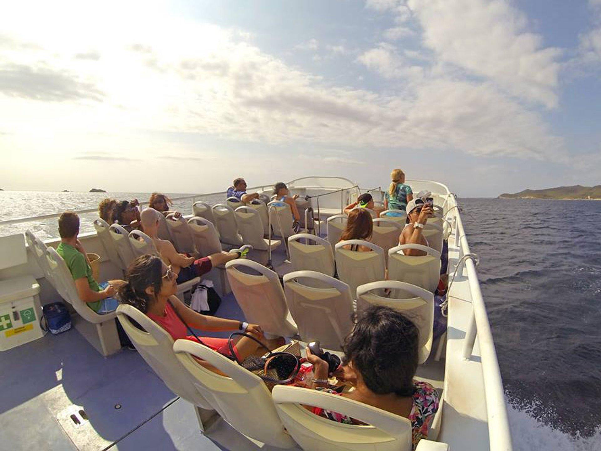 Boat excursion to Es Pujols, Formentera Island, Spain 2020