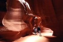 Saison des faisceaux légers Antelope Canyon