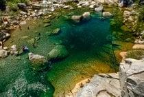 Schwimmen im Süd Yuba Fluss