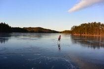 Patinagem exterior no gelo