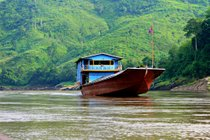 Slow Boat on the Mekong River