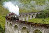 El tren de vapor jacobita