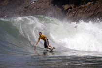 Surfing in West Java