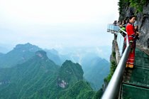 Glass Plank Road at Tianmen Mountain