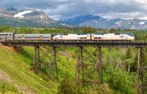 Treno per il Parco Nazionale dei Glacieri