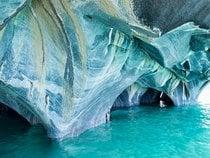 Marble Caves or Cuevas de Mármol