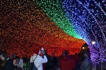 Weihnachtslichter in Cincinnati