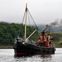 Crucero en un barco de vapor vintage