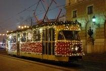 Weihnachten Tram in Bratislava