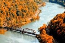 West Virginia Herbstlaub